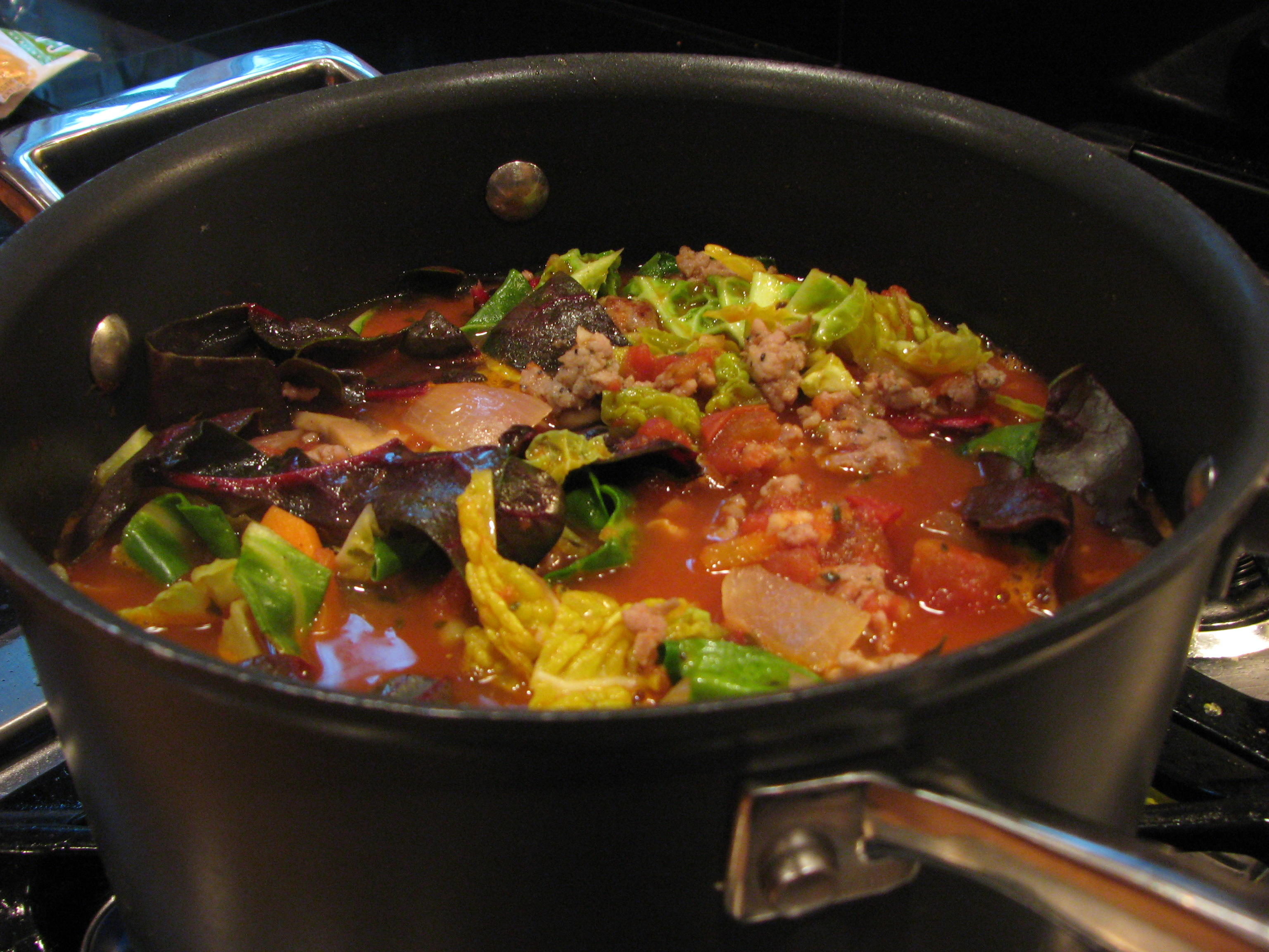 Simmer for 20 minutes. Season with S & P. Serve immediately with a ...