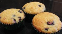 Blueberry-Apricot Cardamom Almond Flour Muffins