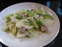 Turnip, Radish, Avocado Salad