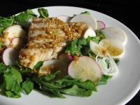 Wasabi-Soy Grilled Tuna on Arugula