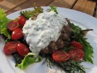 Lamburgers w/ Greek Sauce