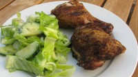 Masala Grilled Chicken w/ Lemon-Mint Salad