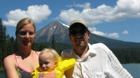Family portrait with Mt. McLoughlin.