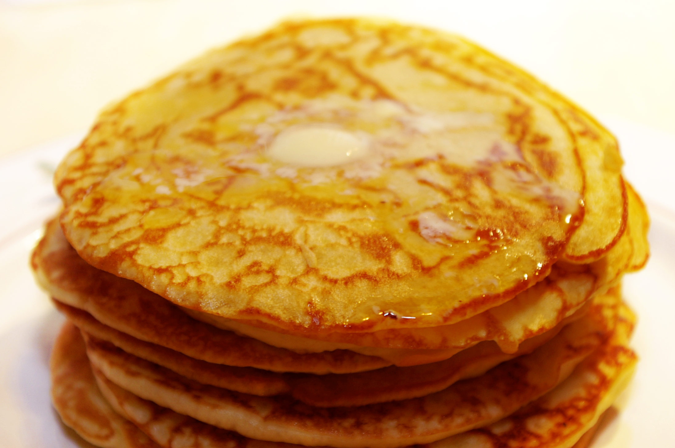 Pancakes shown may not be actual Sweet Potato Pancakes.