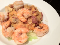 Shrimp w/ Bacon-Delicata Cream Sauce on Caboodles
