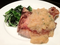 Pork Chops w/ Sage Applesauce