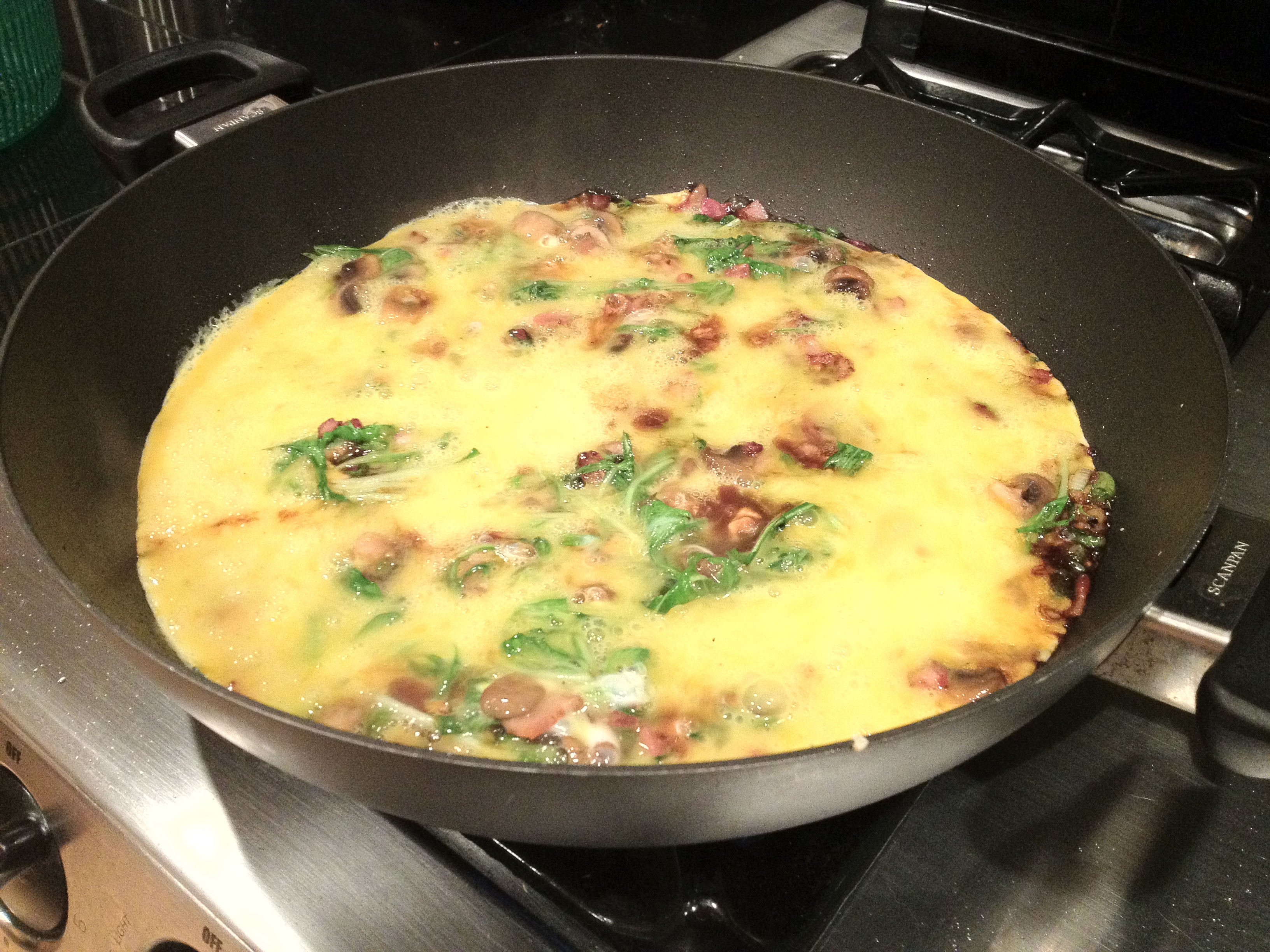Frittata With Canadian Bacon, Green Onions, And Cheese ...