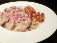 Dijon Chicken w/ Herb Roasted Sweet Potatoes