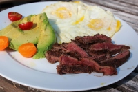Spiced Espresso-Rubbed Breakfast Steak