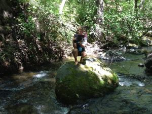 Oh nothing. Just me and Paleo Fitness on a rock. In a creek.