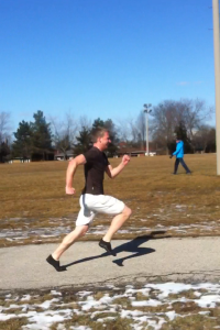 Picture of me sprinting last year