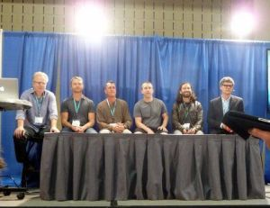 Panelists from left: Ryan, Wolf, Smith, Max, Durant, Miller.